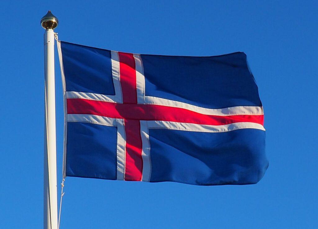 Hedendaagse vlag van IJsland