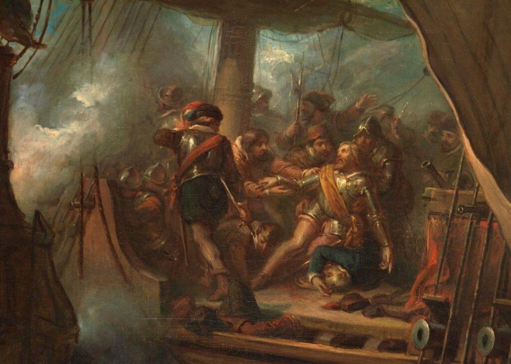 Jacob van Heemskerck sneuvelt bij Gibraltar - Antonie Frederik Zürcher