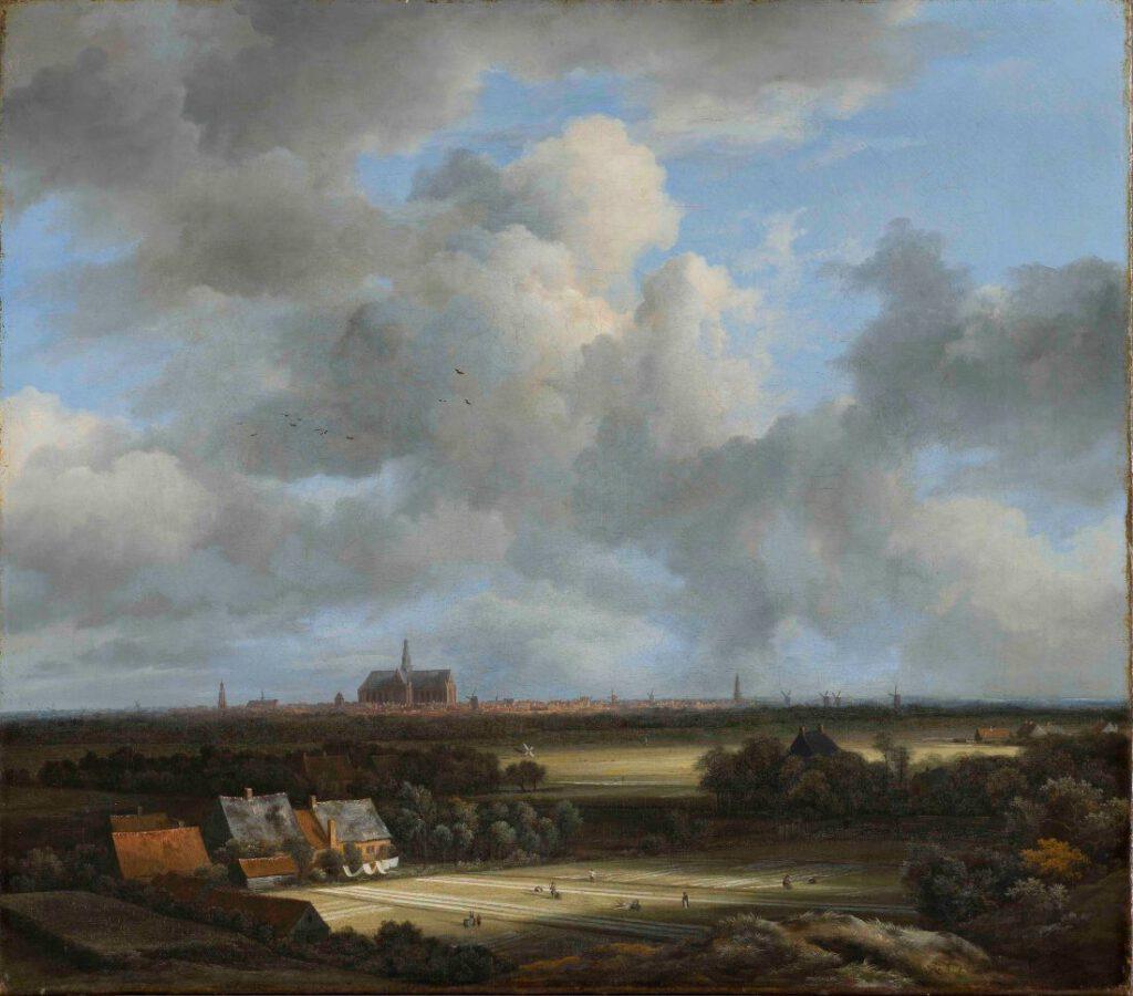 Jacob van Ruisdael, Gezicht op Haarlem met bleekvelden, c.1670-1675 -