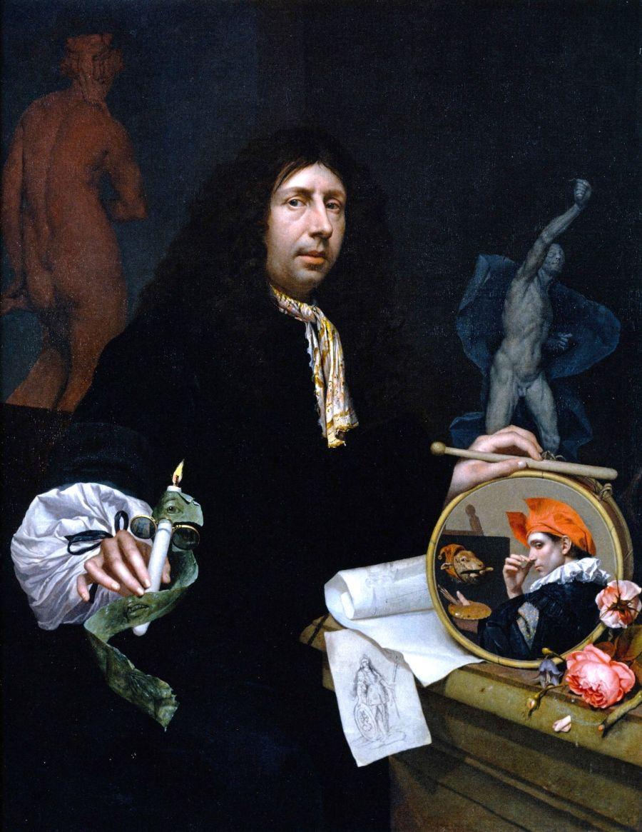 Johannes van Wijckersloot, Zelfportret, 1669, Museum der bildenden Künste, Leipzig (Maximilian Speck von Sternburg Stiftung)