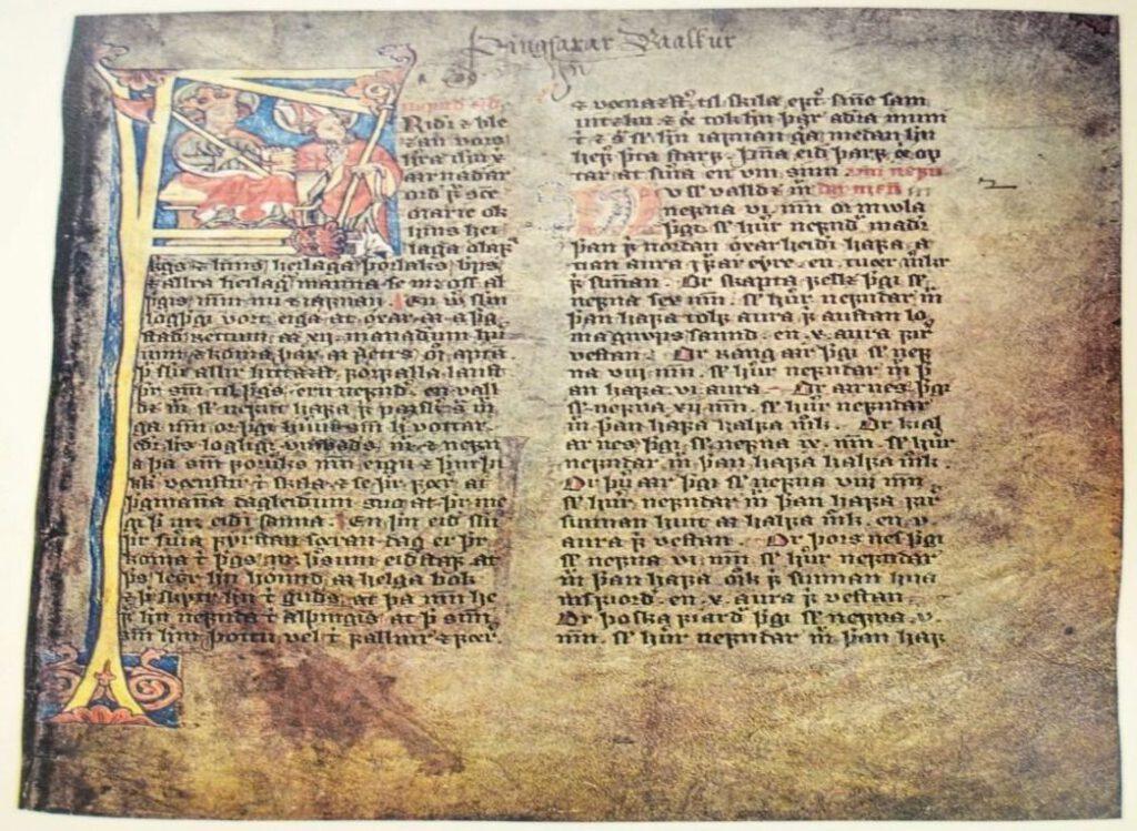 Pagina uit het Jónsbók (facsimile)