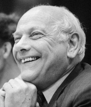 Joop den Uyl tijdens de kabinetsformatie van 1981