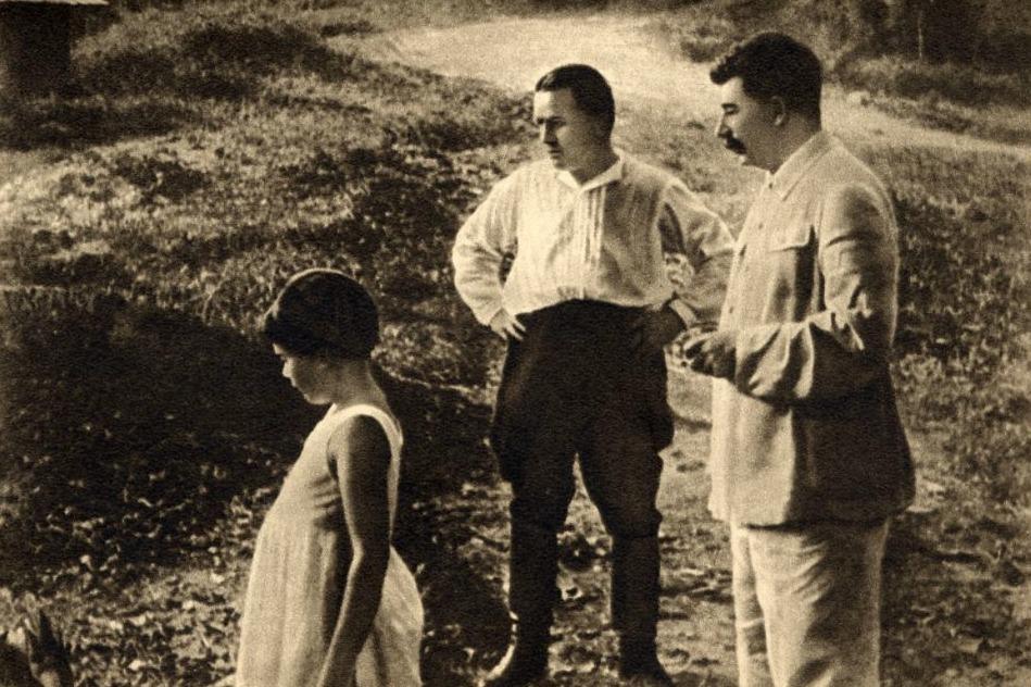 Kirov, Stalin en Stalins dochter Svetlana, tijdens een gezamenlijke vakantie op Sotsji