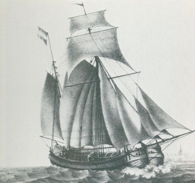 kofschip naar P. Le Comte Afbeeldingen van vaartuigen in verschillende beweging Amsterdam 1831