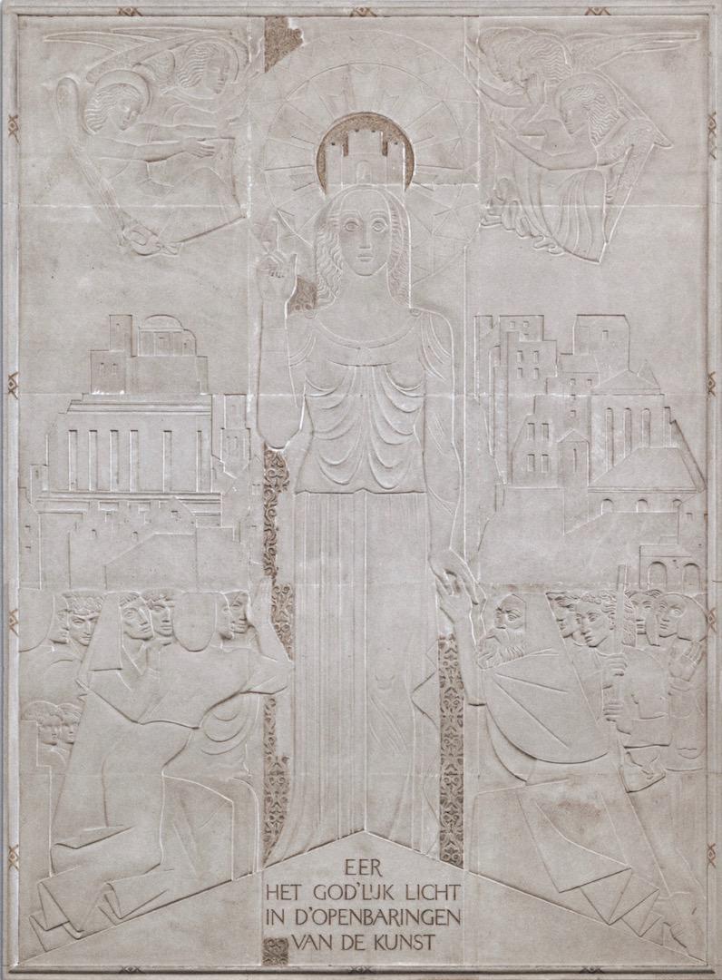 Reliëf van Willem van Konijnenberg - Foto Kunstmuseum Den Haag