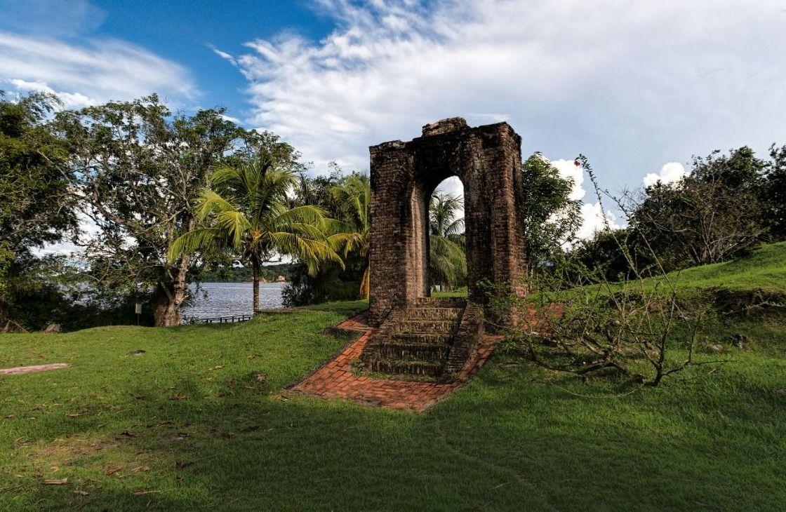 Restant van Fort Kyk-Over-Al in Guyana