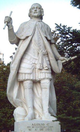 Standbeeld van Alfons VI in Madrid