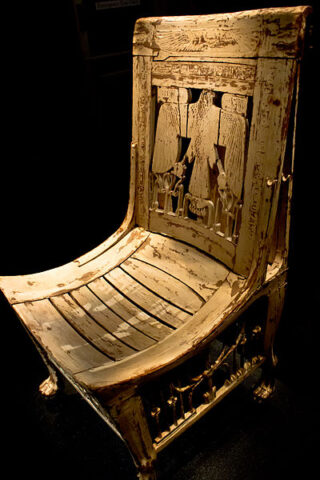 Stoel van farao Toetanchamon