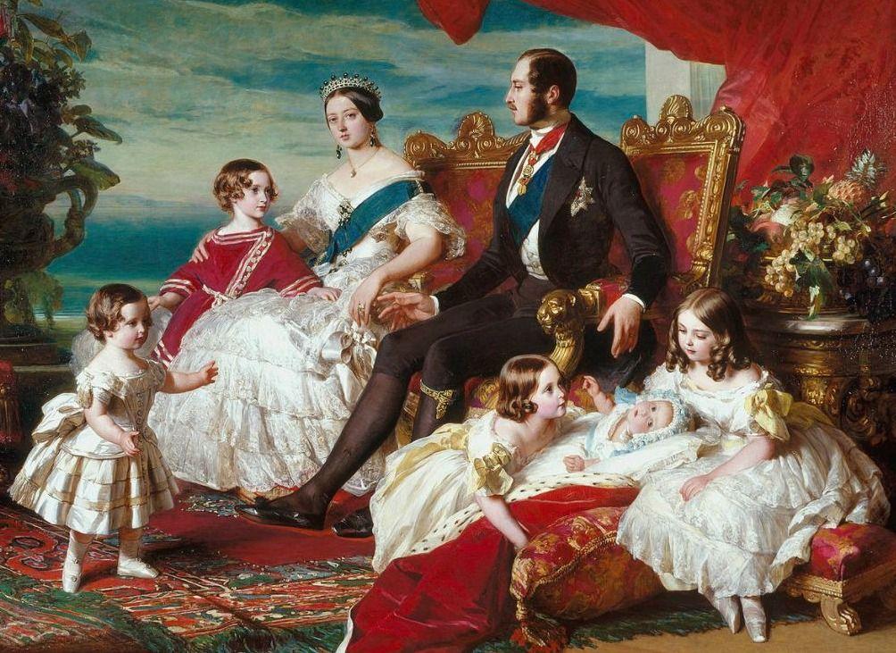 Victoriaanse tijd - Koningin Victoria met prins-gemaal Albert en hun jonge gezin
