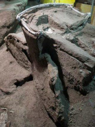 Deel van de Romeinse wagen  (Archaeological Park of Pompeii)