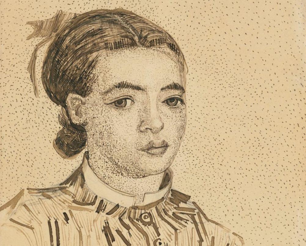 Mousmé - Detail van de tekening van Vincent van Gogh