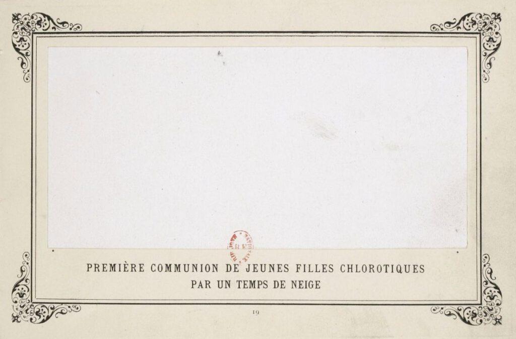 Première communion de jeunes filles chlorotiques par un temps de neige - Alphonse Allais, 1897