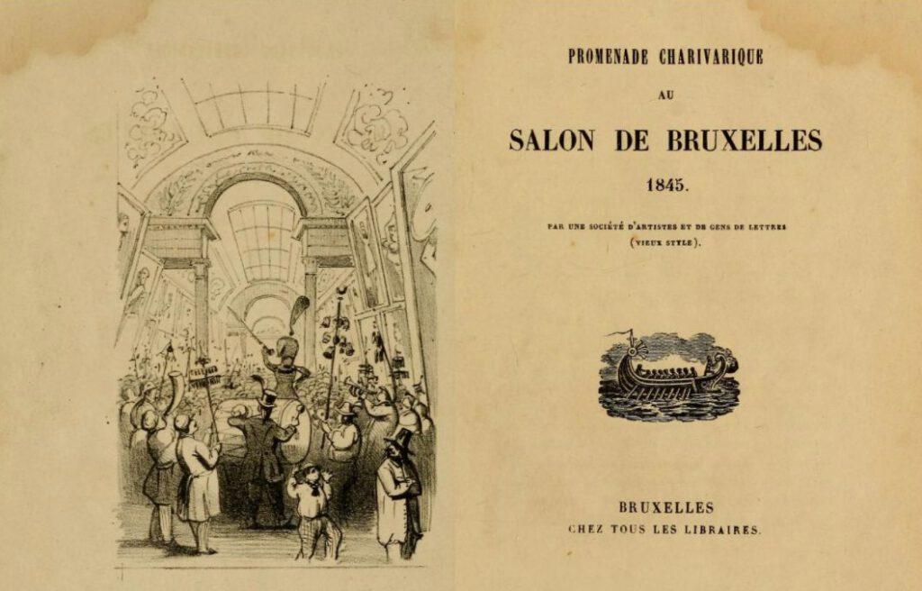 Promenade charivarique au Salon de Bruxelles 1845