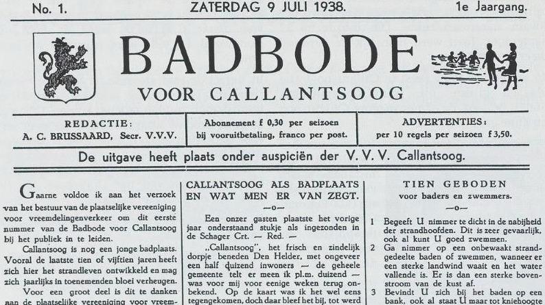 De eerste Badbode uit 1938)