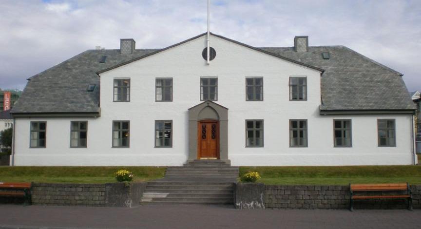 Stjórnarráðið in Reykjavik, de officiële residentie van de premier van IJsland
