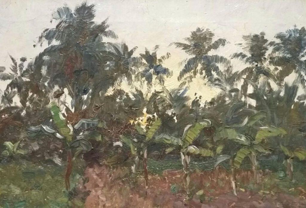 Leo Glans, Bananenplantage, 1937-1938. Stichting Kunstwerken Leo Glans.  - Foto: Marina Marijnen