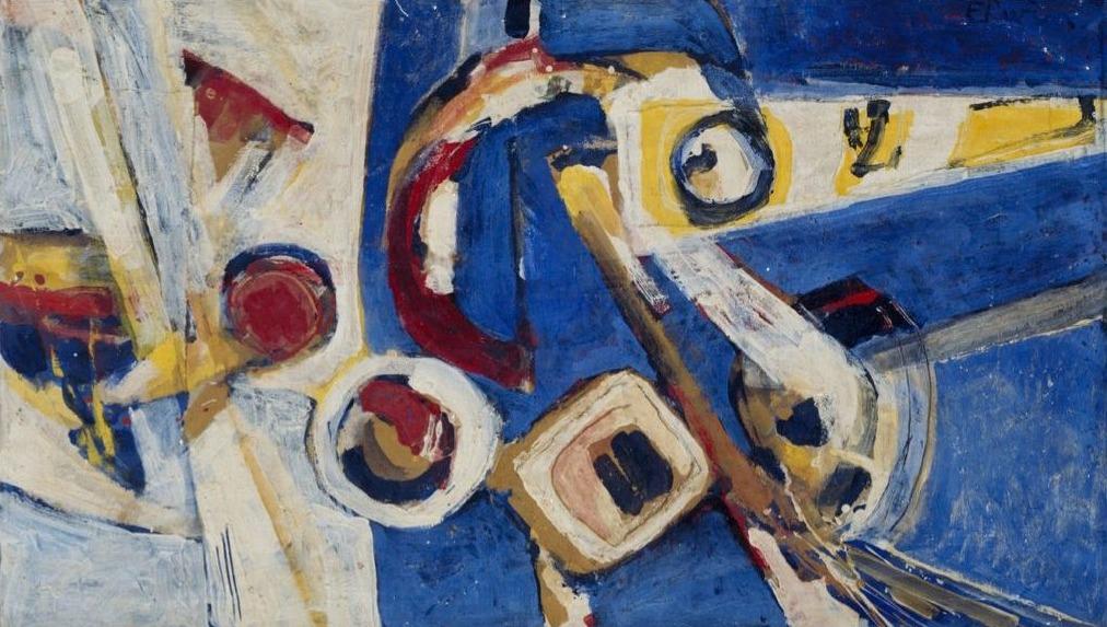 Erwin de Vries, Abstract, 1969, olieverf op doek. Collectie Stedelijk Museum Amsterdam.