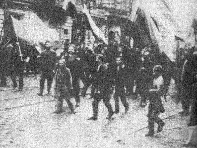 Bloedige Zondag (1905) - Demonstranten onderweg naar het Winterpaleis