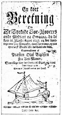 Deense titelpagina Ólafur Egilson's memoires