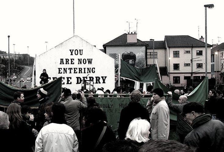 Herdenking van het bloedbad in Derry, 28 januari 2007