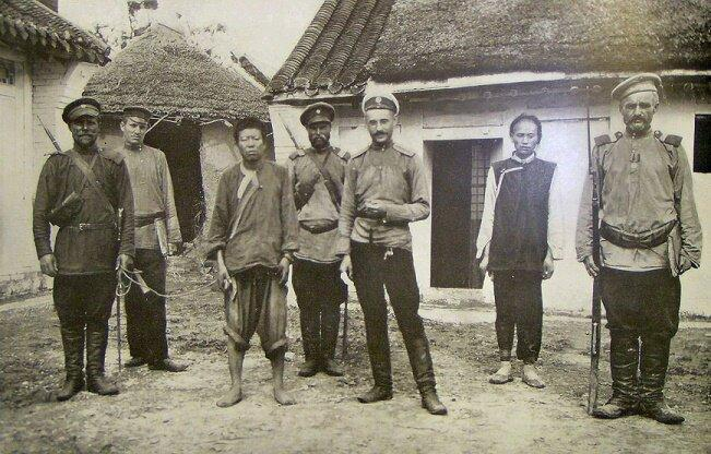 Transbaikalië-kozakken omstreeks 1910. Een groot deel van zijn vooroorlogse militaire loopbaan bracht Ungern door bij deze eenheid aan de grens met Mongolië.