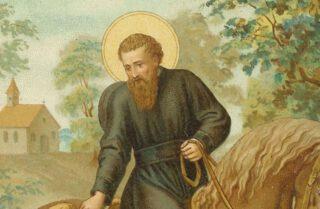 Negentiende-eeuwse afbeelding van de heilige Liudger