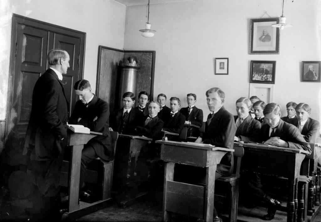 Klaslokaal in IJsland, 1918-1919