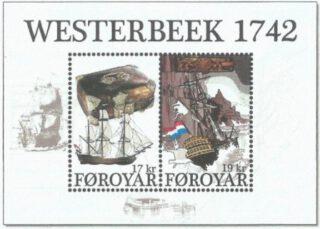 Postzegels ter herinnering aan de schipbreuk van de  Westerbeek