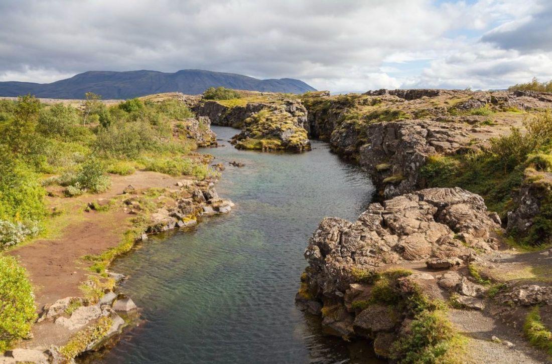 Landschap bij þingvellir