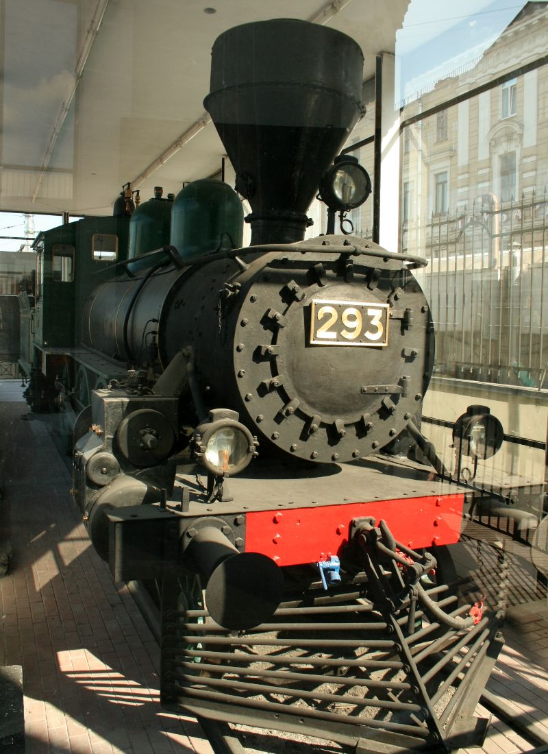 Trein waarmee Vladimir Lenin in 1917 terugkeerde in Sint Petersburg