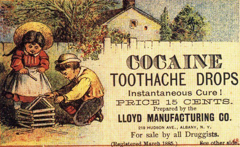 Advertentie voor cocaïne-tanddruppels, 1885