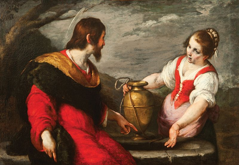Bernardo Strozzi, Christus en de Samaritaanse vrouw bij de bron, 1635, olieverf op doek, Collectie Museum de Fundatie Zwolle en Heino/Wijhe.
