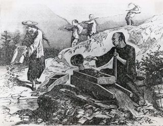 Chinese goudmijners in Californië