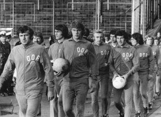 DDR-spelers tijdens WK 1974