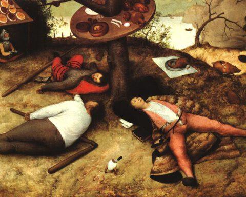 Dromen van Cocagne - Brueghel, 1567
