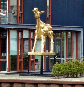 Beeld van een Gouden Kalf in Utrecht