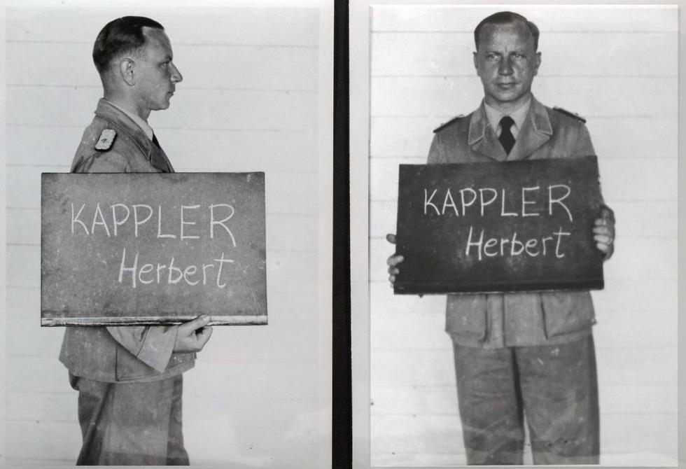 Herbert Kappler na zijn arrestatie, 9 mei 1945