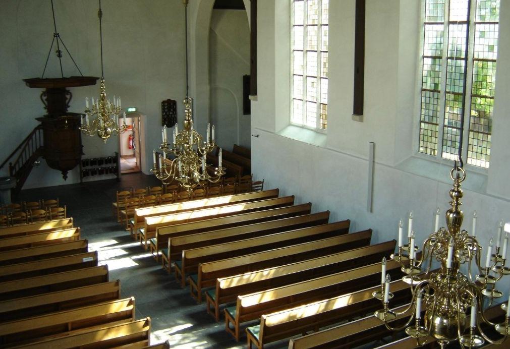 Interieur van een Hervormde Kerk in Bergambacht