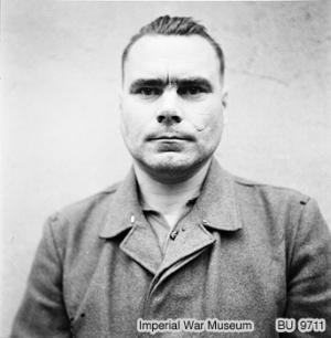 Josef Kramer, de commandant van Bergen-Belsen, augustus 1945