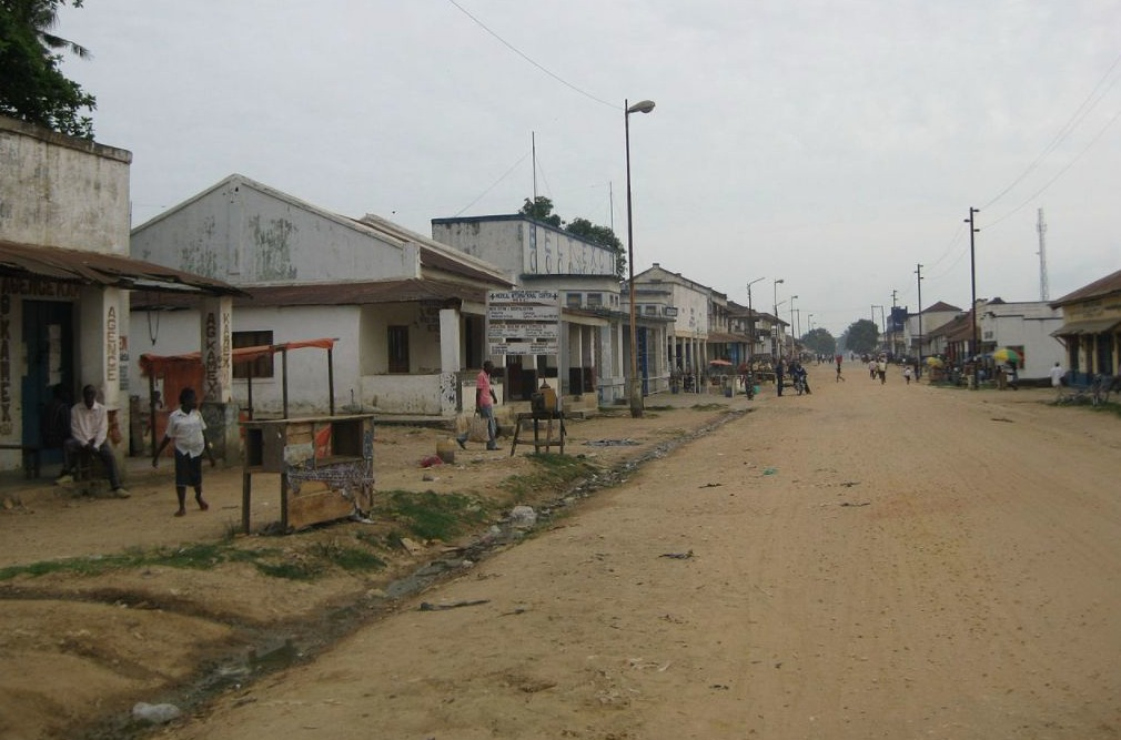 Straat in Kindu