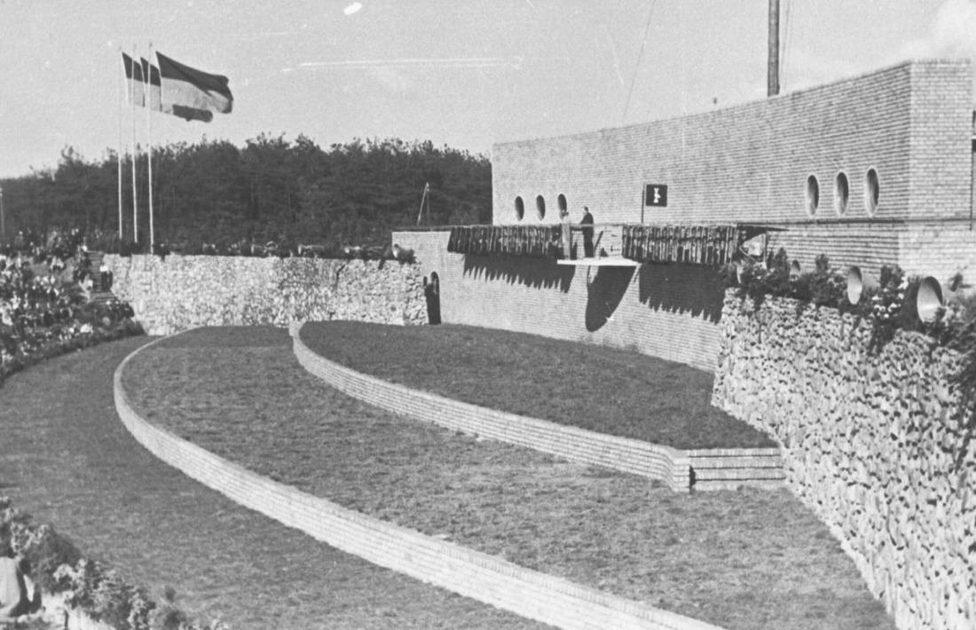 De 'Hagespraak der Bevrijding' van de NSB, op het partijterrein in Lunteren, 22 juni 1940