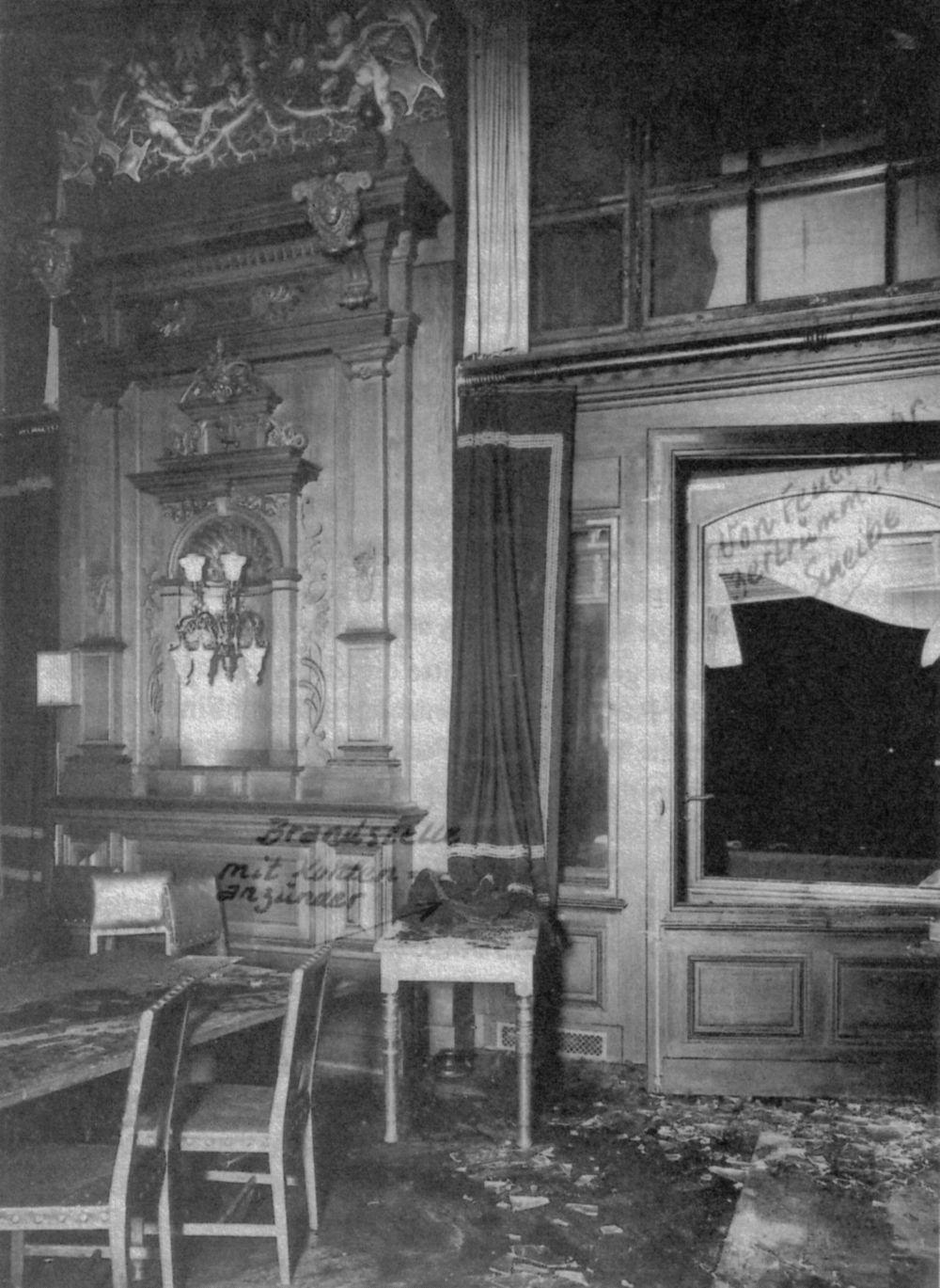 Door dit venster zou Van der Lubbe de Rijksdag zijn binnengedrongen