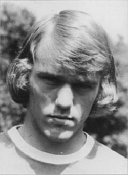 De Oost-Duitse voetballer Rüdiger Schnuphase in 1974