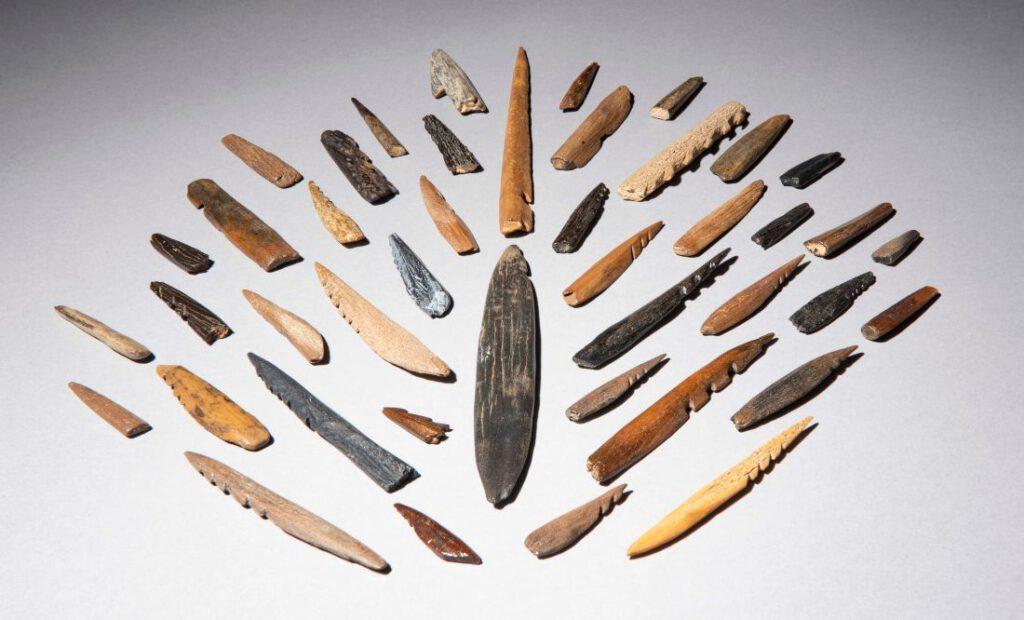 Spitsen, ca. 11.000 jaar oud   foto © Rijksmuseum van Oudheden