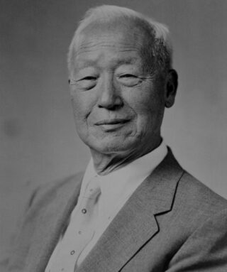 Syngman Rhee in 1948. De eerste president van Zuid-Korea