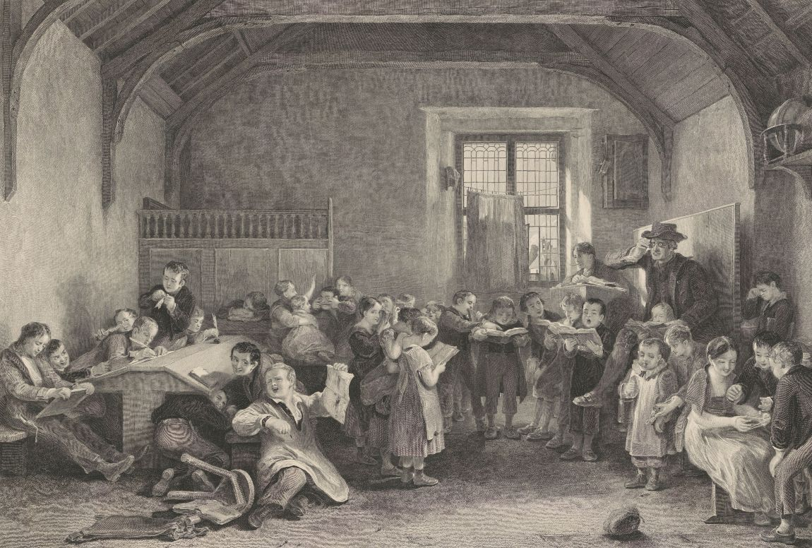 The school, John Burnet, naar David Wilkie, 1794-1868