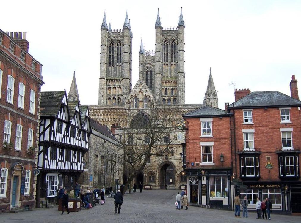 Foto van Lincoln, de stad in het oosten van Engeland waar Jan Wetter burgemeester was.