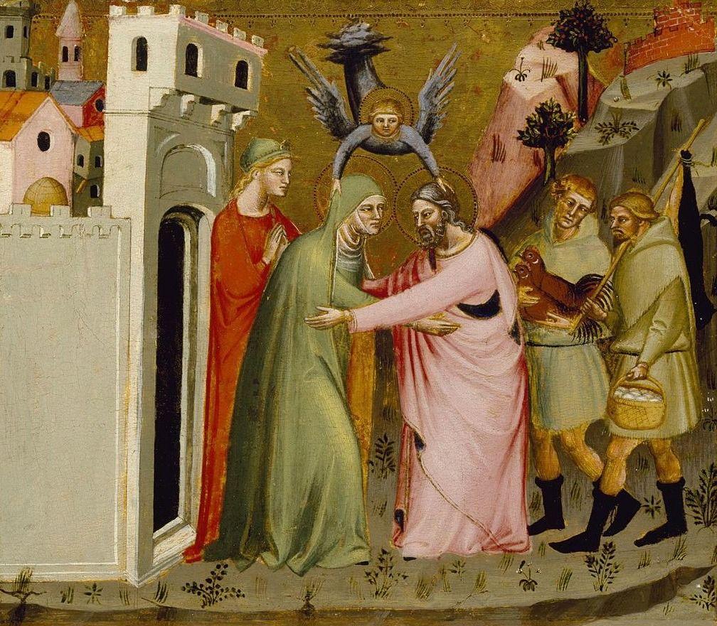Joachim, Anna en de engel, ca. 1370/1390