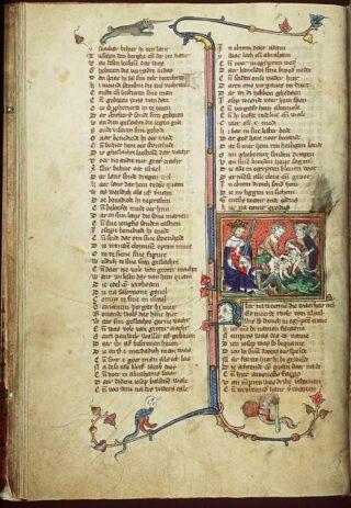 Pagina uit de Rijmbijbel van Jacob van Maerlant