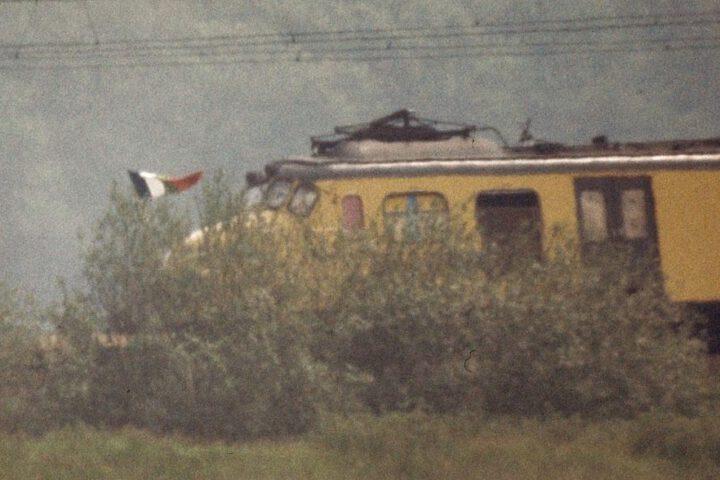 Treinkaping De Punt - Wapperende RMS-vlag, 1977